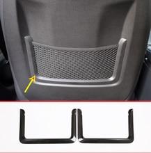 Carbon Fiber ABS Chrome Interior Rear Seat Net Decoration Frame Trim for BMW 3 Series GT F30 F31 4 Series F32 F33 F34 2013-18