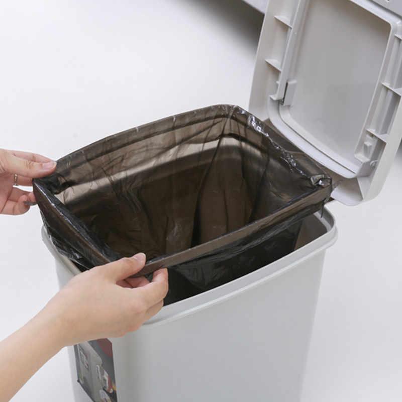 Poubelle 15L Grande Lata de lixo Bin Dupla Tampa Do Caixote do Lixo Da Cozinha De Cozinha Imprensa Pedal Caixote do Lixo Da Cozinha Aberta Saco Titular plus Size