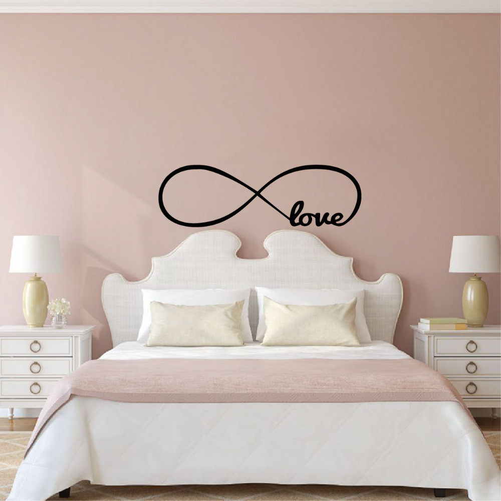 Free Shipping Wall Stickers Bedroom Decor , Personalized Infinity Symbol  Bedroom Wallpaper Decals Love Quotes Painting Wall Art  In Wall Stickers  From Home ...