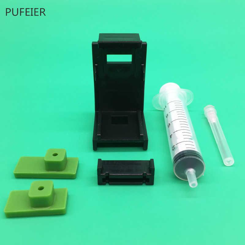 Abrazadera de absorción de cartucho de tinta Universal DIY CISS, herramienta de recarga de tinta de bombeo con jeringa con agujas 10ML, Kits para Epson Canon HP