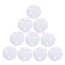 10X Power Kid Socket Cover Baby Child Protector Guard Mains Point Plug Bear New #H055#