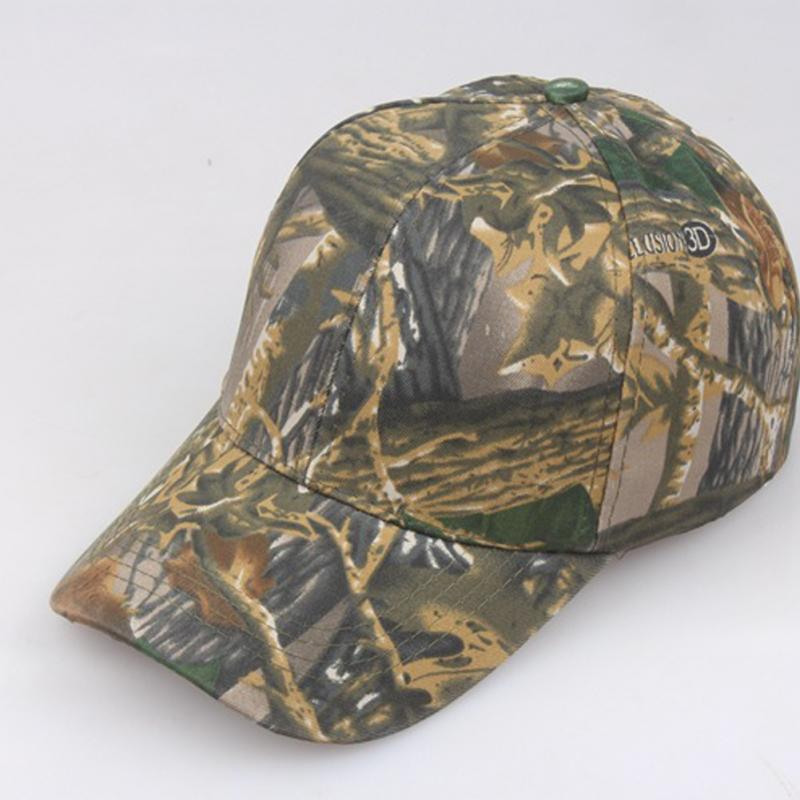 Female/Male Camouflage Jungle Sun Block   Baseball     Cap   Summer Outdoor Hunting Adjustable Design All-match   Baseball     Cap