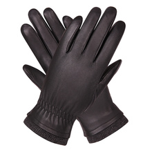 Leather Gloves Men'S Autumn And Winter Plus Velvet Warm Driving Gloves Windproof Waterproof Touch Screen Sheepskin Gloves M18004