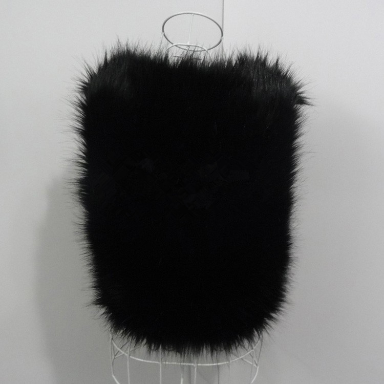 Pescoço Feminino Faux Fur Jaquetas Sem Mangas