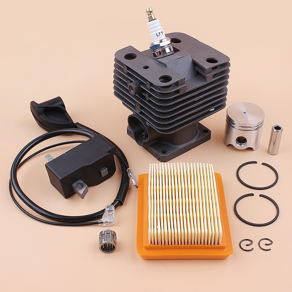 35MM Cylinder Piston Ignition Coil Air Filter Kit For STIHL FS120 FS120R FS250 FS250R FS200 FS200R BT121 BT120 GRASS TRIMMER