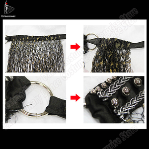 Image 5 - New Hip Scarf Tribal Style Accessories Women Belly Dance Belt Tassel Triangle Bellydance Scarf Hip Bead Hand Made Adjustable