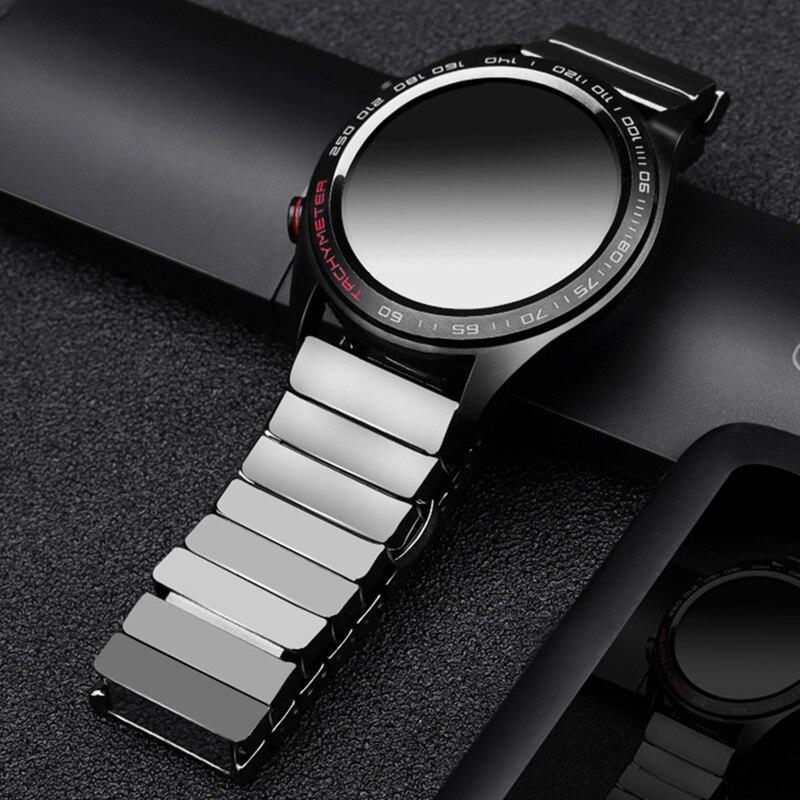 Tüketici Elektroniği'ten Akıllı Aksesuarlar'de Için huawei GT Seramik saat kayışı SIKAI 22mm bant için honor sihirli ticwatch pro title=