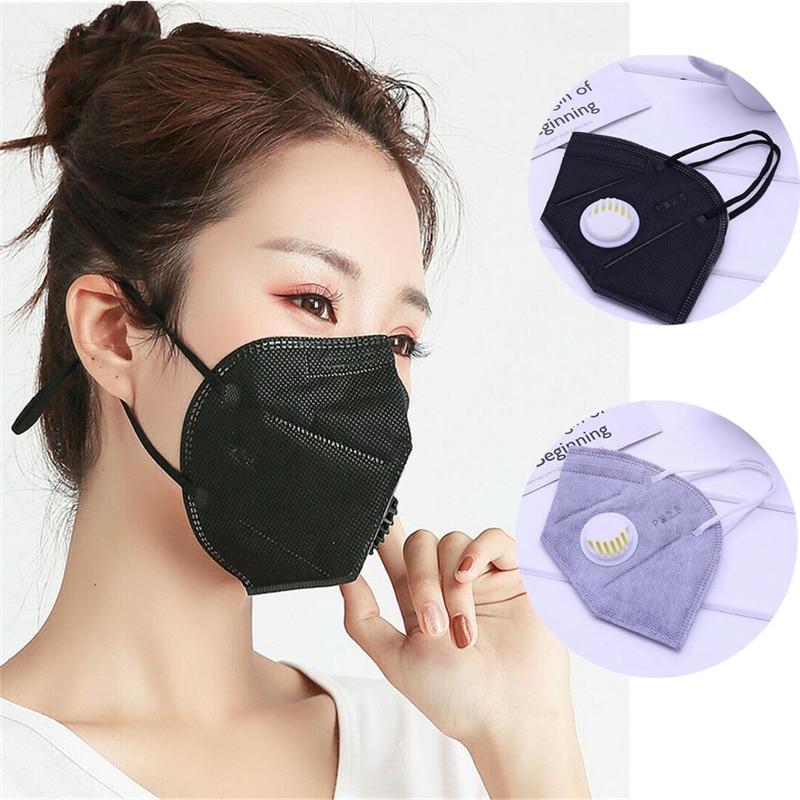 5 Piezas Anti Polvo De Máscara De Filtro De Carbono Activado A Prueba De Viento Boca Mufla Bacterias Prueba Gripe Máscaras Máscara Cuidado De La Boca Máscara Moderno Y Elegante En La Moda