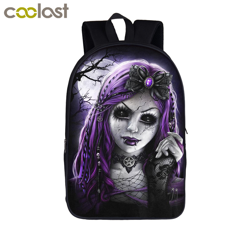 Gothic Princess / Steampunk Girls Backpack Teenager Girls school Bags Students Backpack Women Gaily Backpacks Kids Book Bag Gift ...