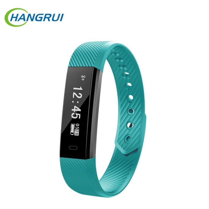 Hangrui ID115 Fashion Smart Bracelet Fitness Tracker Step Counter Activity Tracker OLED Screen Vibration Smartband Sport Band
