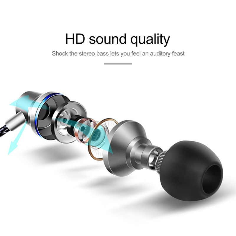 ユニバーサル X6 メタルインイヤー携帯電話有線イヤホン Deadset サブウーファーライン制御チューニングコールマジック iphone Oppo 耳栓