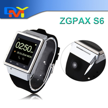 Hot ZGPAX S6 3G Android 4.4 SmartWatch1.54 Inch Smart Watch Phone Smartphone MTK6577 Dual Core 2.0MP Camera Wifi GSM GPS