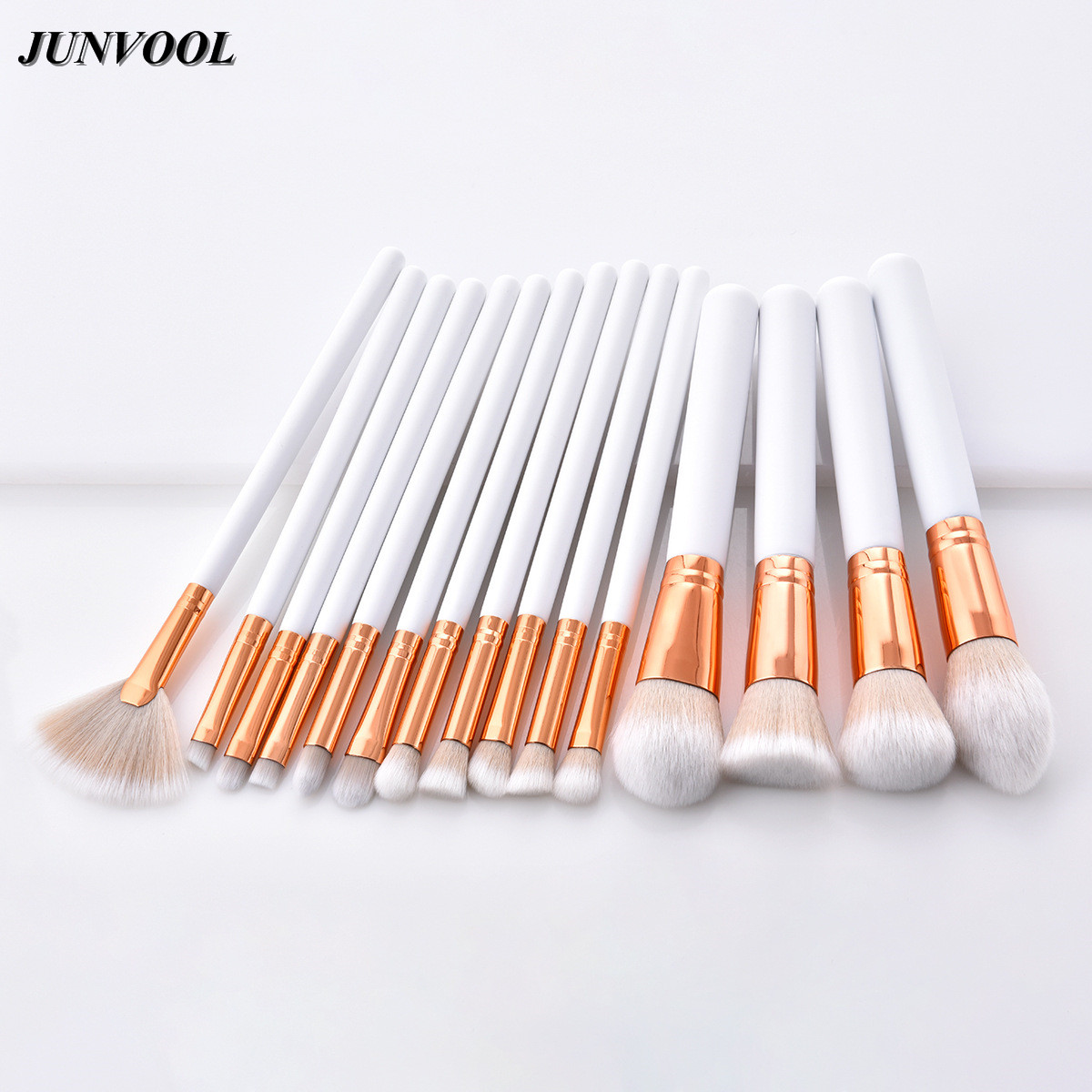 Professional Makeup Brushes Set Foundation Powder Concealer Blending Eyeshadow Cosmetics Fan Brush Kits White Gold Maquiagem 8pcs makeup brushes cosmetics eyeshadow eyeliner brush kit 15 color concealer facial care camouflage makeup palette sponge puff