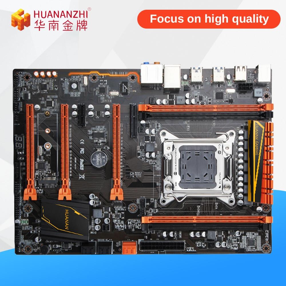 HUANAN ZHI X79 V1.3 Desktop Motherboard X79 Support LGA 2011 E5 DDR3 REG/ECC 1866Mhz 16G*4 PCI-E NVME M.2 SATA3 USB3.0 ATX new motherboard x79 support e5 2660 2670 ecc ram 4 ram slots 64g lga 2011 ddr3 atx mainboard desktop motherboard