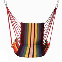 New Garden Hammocks Camping Outdoor Furniture Hanging Chair Boutique Cotton High end Quality Stripe Swing 5 colors Best for Gift