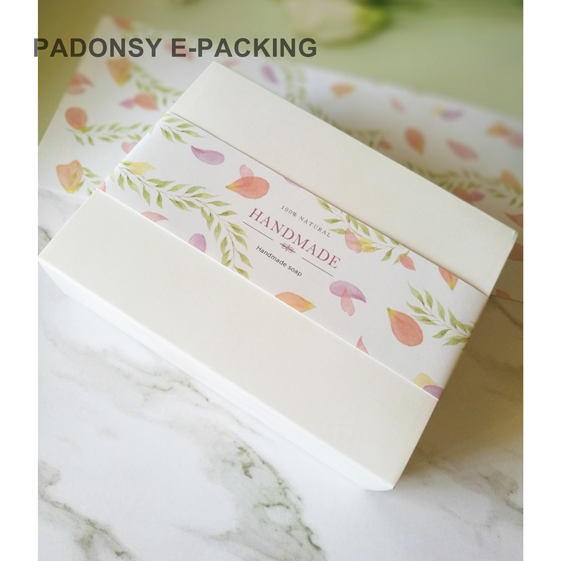 Image 4 - Vintage Flower Natural Soap Wrapping Paper Soap Box Packaging Soap Waist Sealing Wrapper Packing Wholesale-in Gift Bags & Wrapping Supplies from Home & Garden