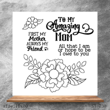 AZSG Mothers day flowers Clear Stamps For DIY Scrapbooking/Card Making Decorative Silicone Stamp Crafts