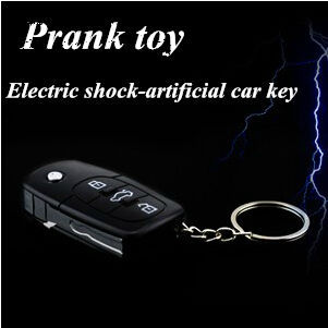 April Fools Day Prank Toy Novelty Gift Creative Simulation Car Key Electric Shock Toy Funny Gifts Free Shipping