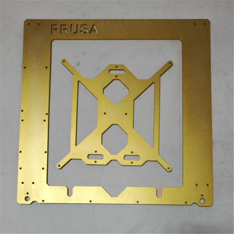 Horizon Elephant  DIY Reprap Prusa i3 3d Printer golden color metal frame Reprap Mendel Prusa i3 aluminum alloy Frame 6 mm thick 2017 newest tevo tarantula prusa i3 3d printer diy kit