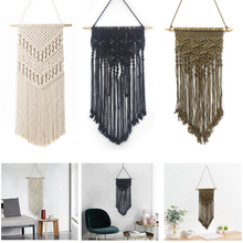 Manual Boho Wall Tapestry 3 Colors Hanging Bedroom Home Decor for Living Room Macrame Wall Tapestry Hand Home Furnishing macrame wall hanging mirrors ins nordic wall mirrors hand made wall tapestry home porch mirrors for home makeup bath room