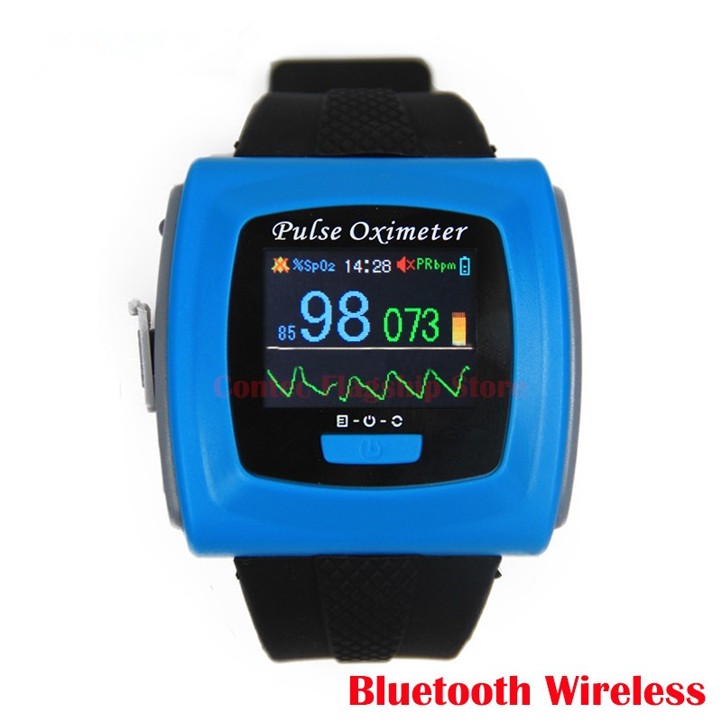 цена на Free Shipping CMS50FW CE FDA Wireless Bluetooth Wrist Oximeter Pulse Oxygen SPO2 Monitor oximetro de dedo