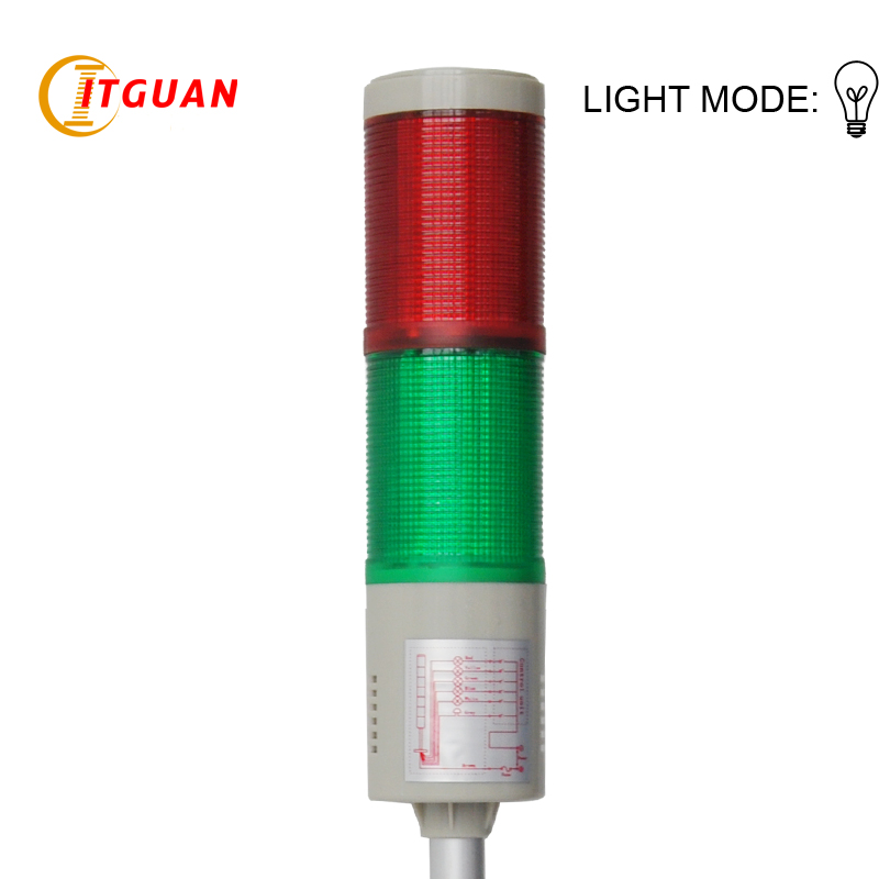 DC12V/24VAC220V Tower Light Signals 2 Layer Bulb Warning Lamp Alarm Indicator Lights Industrial Emergency Strobe Light ltd 5071 dc12v warning light emergency strobe light warning light
