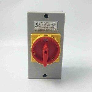 Image 1 - Электродвигатель Yaming, водонепроницаемый выключатель с поворотным кодовым датчиком 32A, 4 полюса, вкл. ВЫКЛ., переключатель с изолятором на 4 P, с функцией включения и выключения