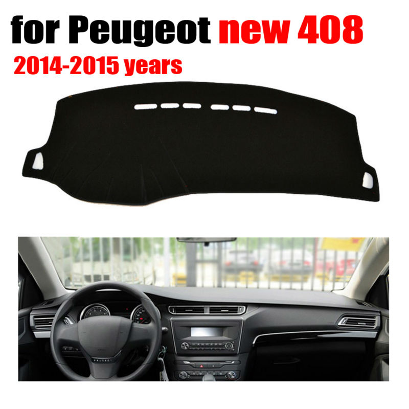 Car dashboard covers mat for Peugeot new 408 2014 2015 years Left hand drive dashmat pad dash cover auto accessories