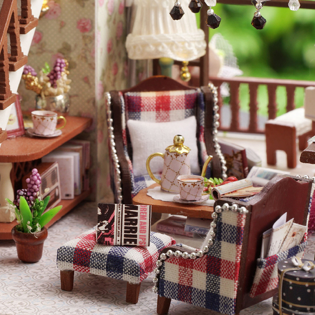 Wooden DIY Cottage with Furniture