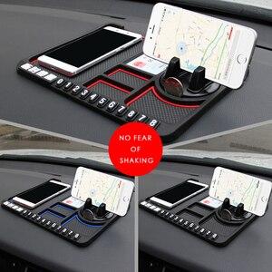 Image 5 - Tapis anti dérapant voiture Smartphone Stand Gadgets de voiture et accessoires Pad collant pour Smart 453 anti dérapant multi fonction carte de stationnement