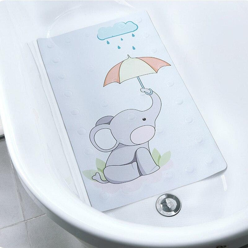 Bath Mat For Shower Enclosure TPR Bathtub Mat Non-slip Mat For Tub Suction Cup Antibacte ...