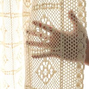 Image 5 - Handmade โครเชต์ผ้าม่านสำหรับผ้าม่านห้องนั่งเล่นภาษาฝรั่งเศสคำ Windows ห้องนอน Bay หน้าต่างผ้าฝ้ายสำเร็จรูปมุมมองผ้าม่าน