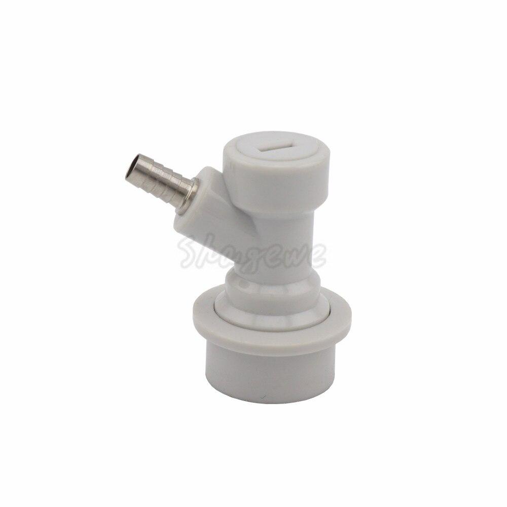 Beer Brewing Carbonation Cap Carbonator & Ball Lock Connector fit soft PET drink bottles Homebrew Kegging (6)