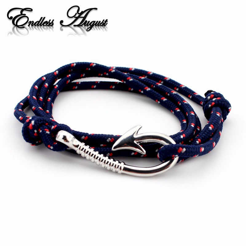 Endless August Multilayer Rope Bracelet pulseras hombre Tom hope Nautical Anchor Sailor Anchor Bracelets men fiendship gifts