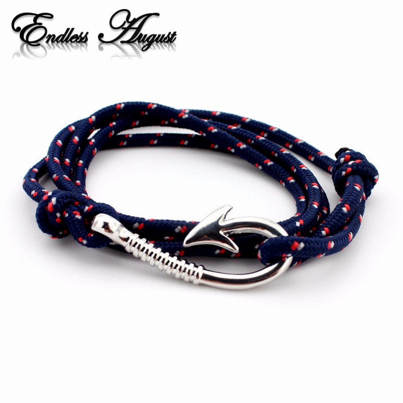 Endless August Multilayer Rope Bracelet pulseras hombre Tom hope Nautical Anchor Sailor Anchor Bracelets men fiendship
