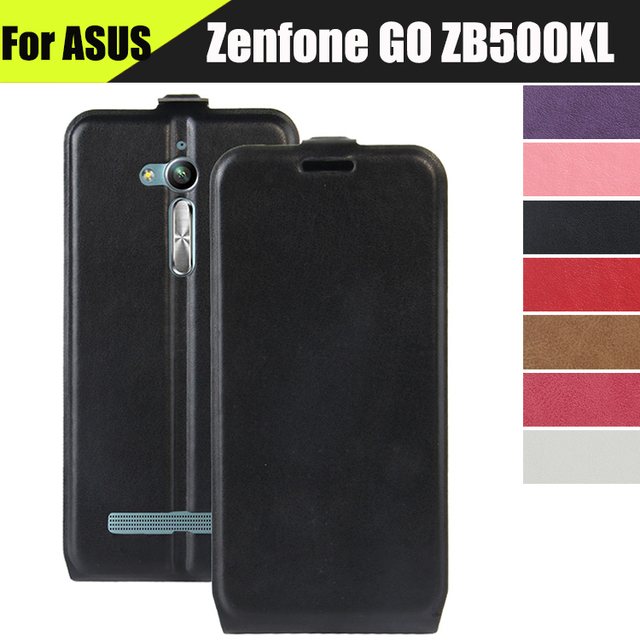 JURCHEN Flip Phone Case For ASUS Zenfone GO ZB500KL ZB500KG Funda X00AD X00ADC X00ADA X00BD Leather Cover For Asus ZB500KL Case