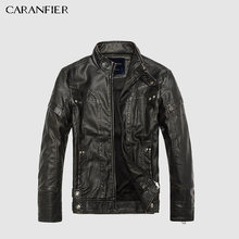 CARANFIER Mens Leather Jackets Men Jacket High Quality Classic Motorcycle Bike Cowboy Jackets Male Plus Velvet Thick Coats M-5XL(China)
