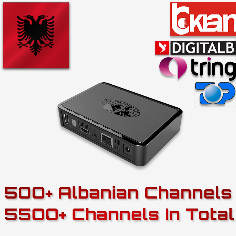 Albanian IPTV Box MAG254 IPTV Box With USB WiFi Linux System Linux 2.6.23 STiH207 MAG 254 Set Top Box 500+ Albanian Channels
