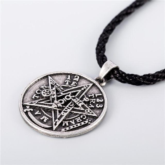 Online shop gothic punk wiccan jewelry pagan supernatural gothic punk wiccan jewelry pagan supernatural tetragrammaton pentagram pentacle male pendant necklace men women jewelry aloadofball Choice Image