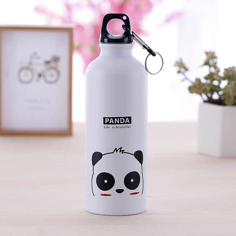 Modern Design 500ml Lovely Animals Outdoor Portable Sports Cycling Camping Hiking Bicycle School Kids Metal Water Bottle
