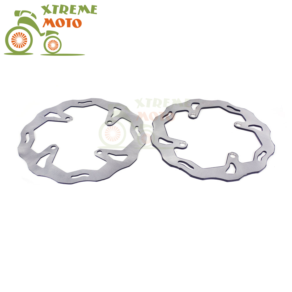 Front Rear Wavy Brake Disc Rotor Set For Kawasaki KX125 250 03-08 KXF250 450 06-14 KLXR450 07-14 Motocross Enduro Dirt Bike