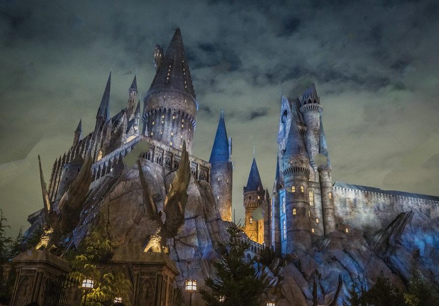 source Hogwarts School Witchcraft Harry Porter Castle background Vinyl cloth Computer print children kids photo backdrop
