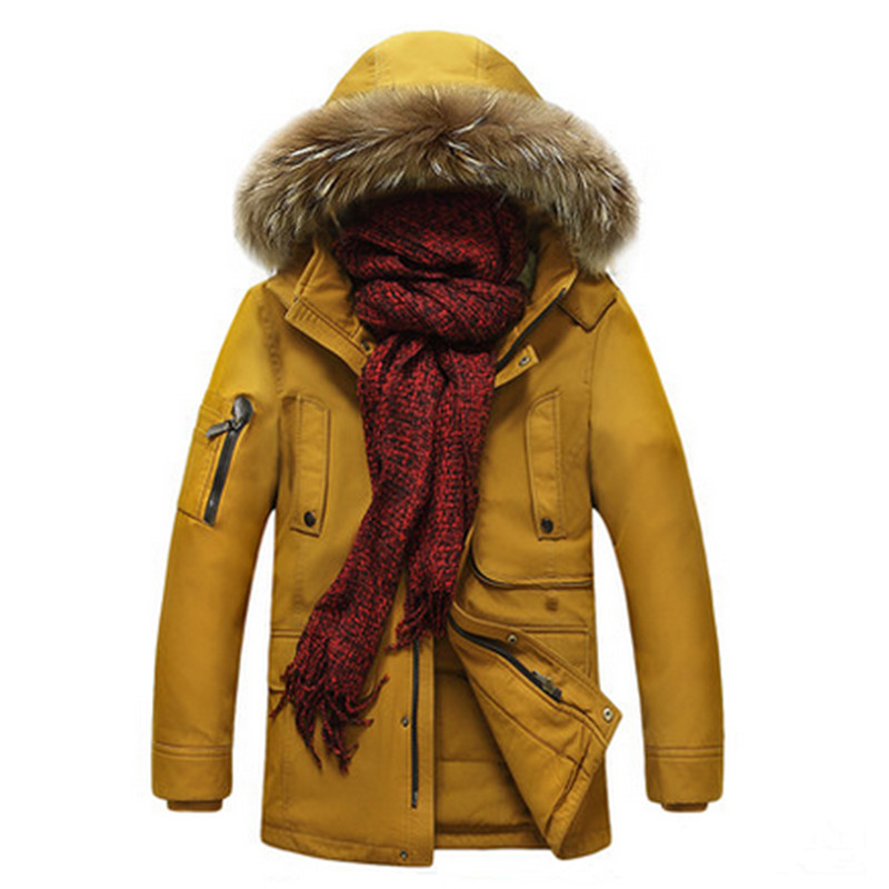 Winter military style mens coat brand clothing fashion hooded casual Warm Solid color cotton mens jackets jacket