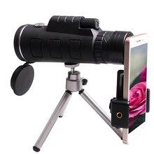 40X60 Hd Zoom Mobiele Telefoon Lens Monoculaire Scope Monoculairen Telescoop Met Statief En Clip Voor Iphone Sumsung smartphone