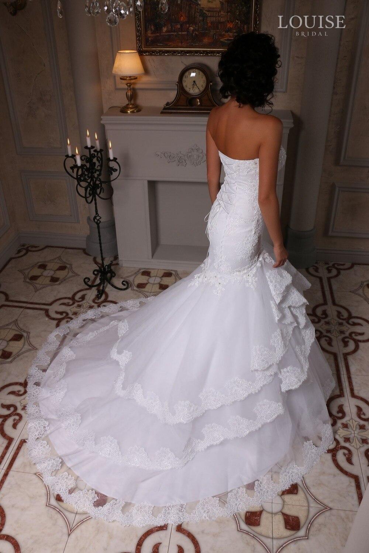 da2e698c8a22 Custom Made Vestidos De Novia Ruffled Skirt Tired Sexy Layers Mermaid  Wedding Dresses Bridal Gown Vestido De Casamento LBA1-in Wedding Dresses  from Weddings ...