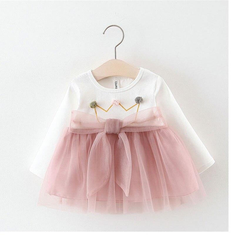 bc36d1b8c 2019 Infant Baby Girl clothing long sleeve mesh TUTU princess dress for newborn  baby girls clothes 1 year birthday dresses dress