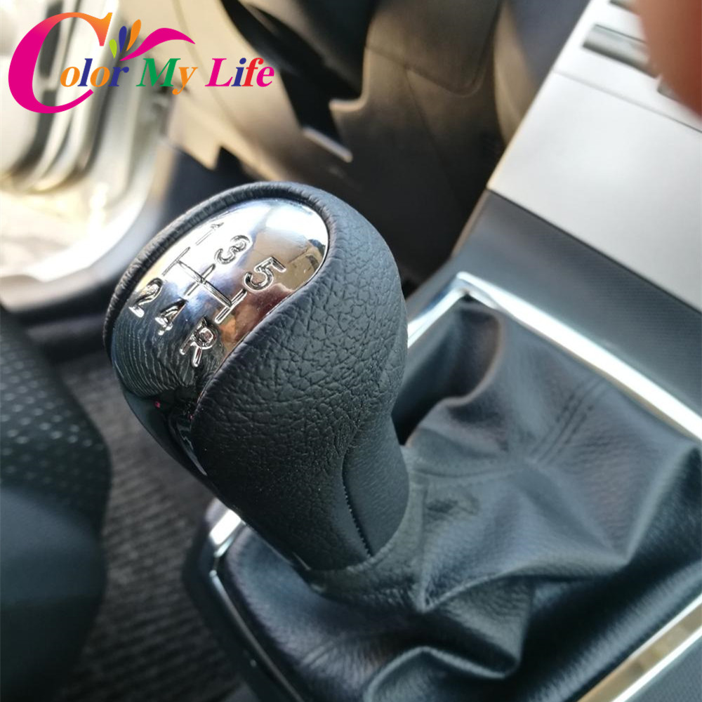 Color My Life 5 6 Speed Car Gear Head Shift Knob for Toyota Aygo Verso Corolla RAV4 AVENSIS YARIS VITZ 1992 - 2009 Accessories цена