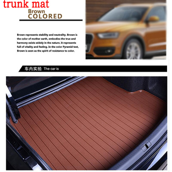 car trunk mat for Land Rover Discovery 3/4 freelander 2 Sport Range Rover Sport Evoque leather 3D carstyling carpet cargo liner
