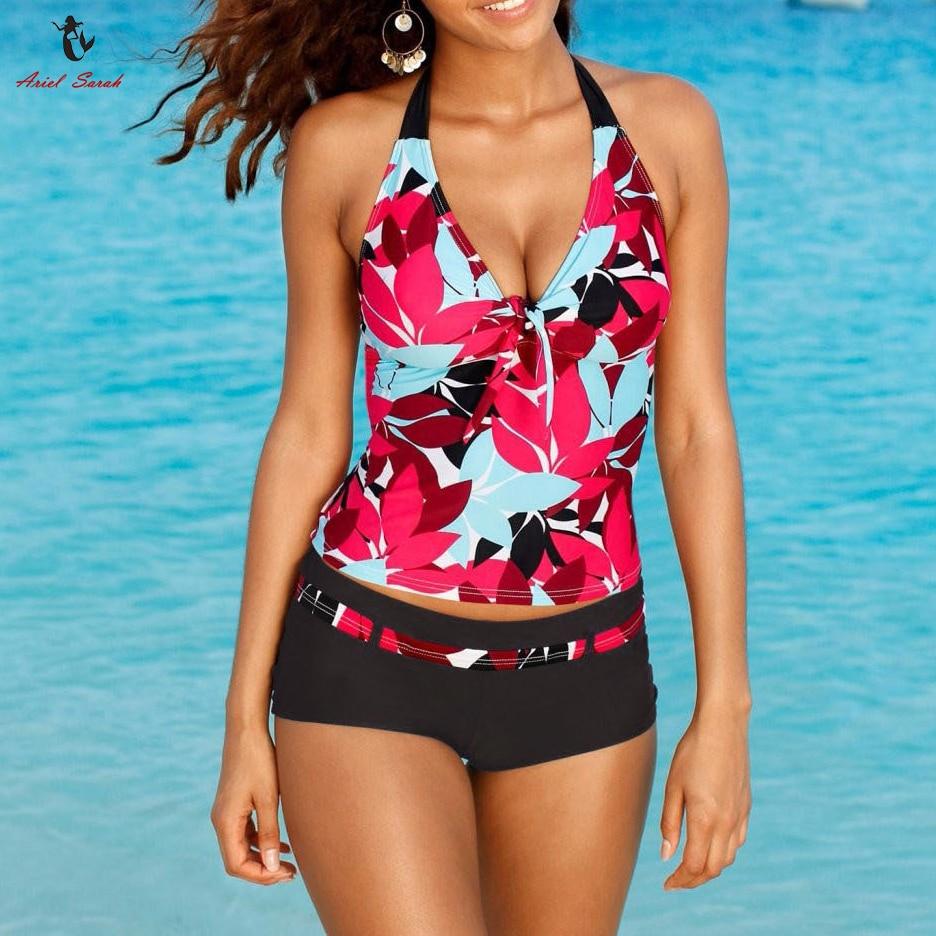 b5e8dfed5a8e2 Swimwear Women Swimsuit Sexy Floral Bathing Suit ... Ariel Sarah Brand Sexy  Swimwear Solid Bikini Women ... Halter Plus size Bikini Set Maillot De Bain  .