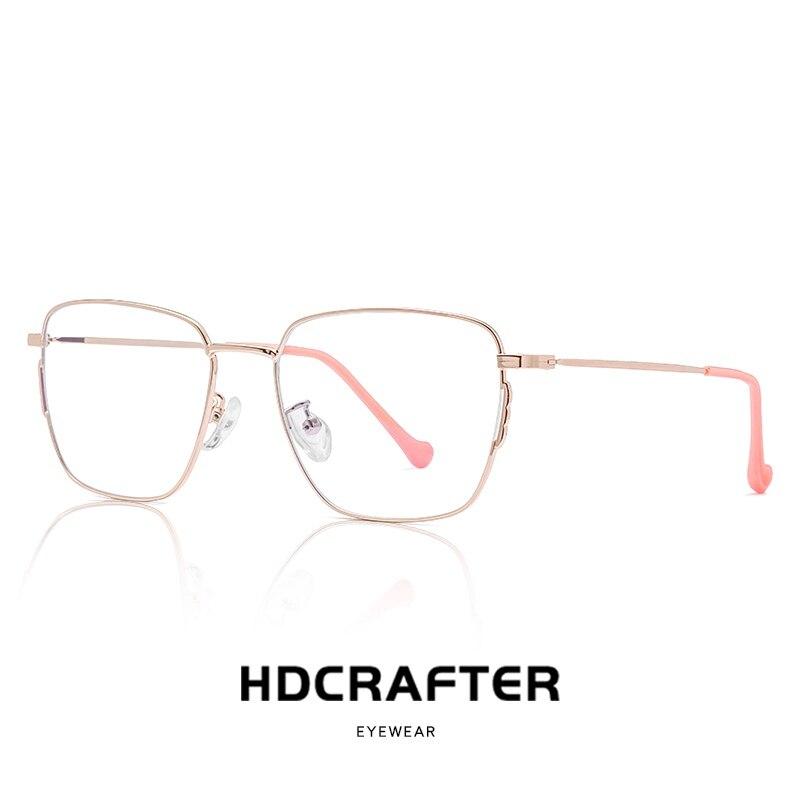 Alloy Anti Blue Light Glasses Frame Men Square Prescription Eyeglasses Women Metal Myopia Spectacles Stainless Steel Eyewear